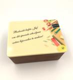 Gepersonaliseerde chocolade bakje met pralines_