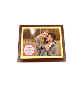 Be My Valentine chocolade plaat klein